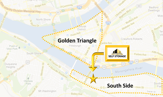 Pittsburgh Storage | City Center Self Storage | Downtown Golden Triangle